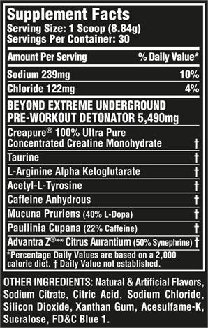 Nährwerte zu Nutrex Research - Hemo Rage Black Ultra Concentrate
