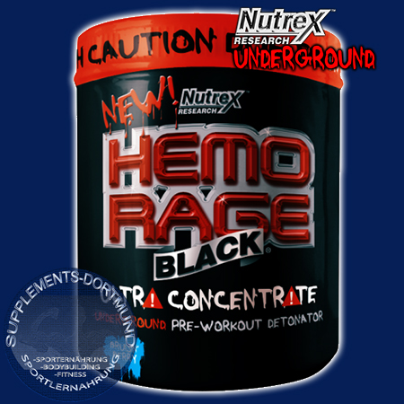 Hemo Rage Black Ultra Concentrate in der 264g Dose