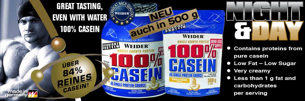 100% Casein Protein von Weider im 500g Beutel bei Supplements-Dortmund.de
